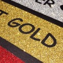 Термопленка с крупными блестками золото 6020 GLITTER GOLD WITPAC